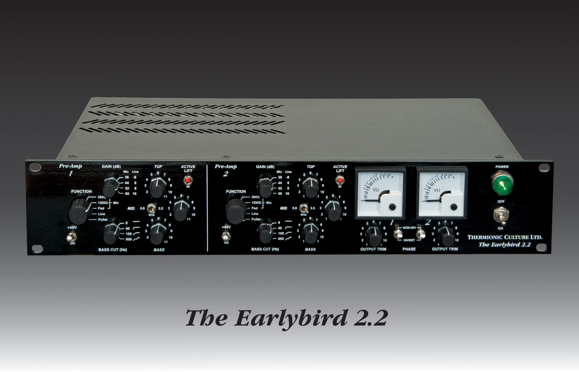 Thermionic Culture The Earlybird 22 2 Microphone Preamplifier Based Tlc251